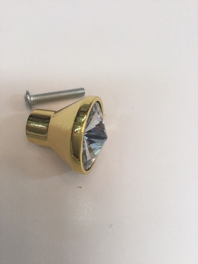 Conical crystal bathroom vanity drawer handle knob knobs - Bathroom vanity knobs and handles ...