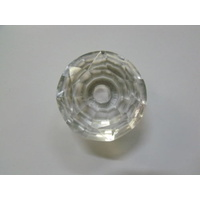 CLEAR GLASS CRYSTAL VANITY DRAWER HANDLE KNOB 40mm