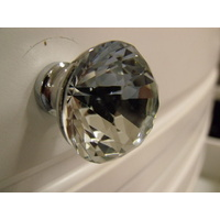 CLEAR CRYSTAL BUTTON BATHROOM VANITY DRAWER DRESSER HANDLE KNOB CABINET 30mm K9
