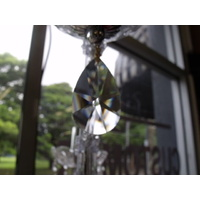 TIER DROP CHANDELIER CRYSTAL PENDANT DROPS HANGING CRYSTALS SUNCATCHER 40mm