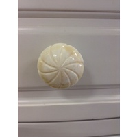 WHITE BONE STAR RESIN ART DECO KNOB DRAWER HANDLE CABINET TALLBOY BEDSIDE