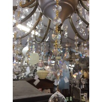 38mm SPLIT ALMOND DROP DROPS CHANDELIER SUN CATCHER PART CUPS CUP PART CRYSTAL