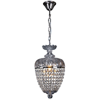 1 LIGHT CRYSTAL BASKET DOME HALLWAY CHANDELIER CHANDELIERS EMPIRE No.25