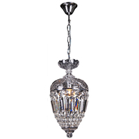 1 LIGHT CRYSTAL BASKET DOME HALLWAY CHANDELIER CHANDELIERS EMPIRE No.23
