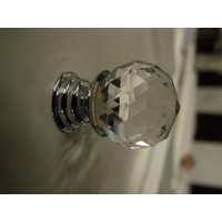 CLEAR CRYSTAL BATHROOM VANITY DRAWER HANDLE KNOB 20mm K9