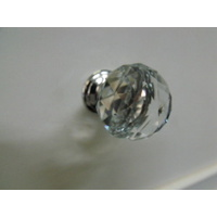 50x CLEAR CRYSTAL BEDROOM VANITY CABINET BEDSIDE DRAWER KNOB PULL 30mm K9 KNOBS