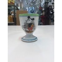 EARLY VINTAGE MICKEY MOUSE BOXING RAT TAIL DISNEY EGGCUP EGG CUP