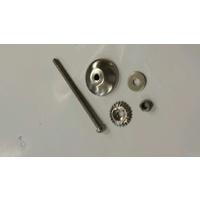 CHROME HARDWARE THREAD LONG PIN BACK PLATE FOR POTTERY KNOBS DRAWER