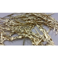 100x CHANDELIER BOWTIES 41mm JOINS JEWELRY JEWELLERY GOLDERN FINDINGS REPAIR FIX