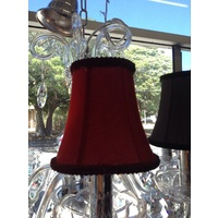 CHANDELIER SHADES HAT HATS SHADES BURGUNDY RED CLIPON CLIP ON SHADE