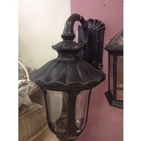 SMALL BLACK EXTERIOR WALL LIGHT VICTORIAN FEDERATION FRENCH COUNTRY VINTAGE WB9
