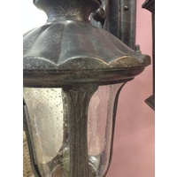 LARGE BLACK EXTERIOR WALL LIGHT VICTORIAN FEDERATION FRENCH COUNTRY VINTAGE WB9