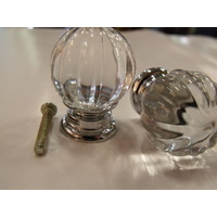 CLEAR CRYSTAL BATHROOM VANITY DRAWER HANDLE KNOB KNOBS 30mm NEW DESIGN
