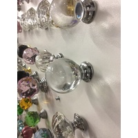 CLEAR BALL BEDROOM VANITY CABINET DRAWER KNOB PULL 40mm HANDLE BEDSIDE KNOBS