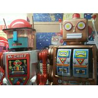 Tin Toy Robots & etc